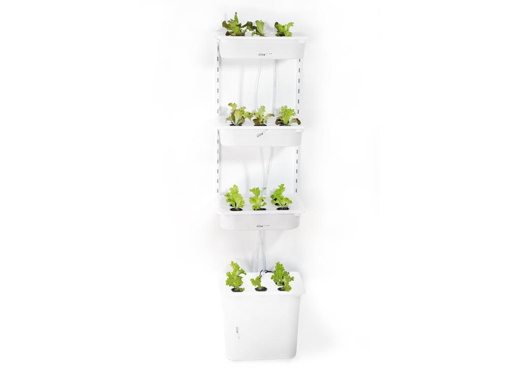 Elegant hydroponic solutions penguinsix - Jardin vertical interior ikea ...